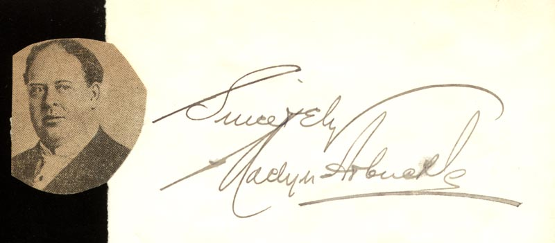 Image 1 for Maclyn Arbuckle - Autograph Sentiment Signed - HFSID 171772