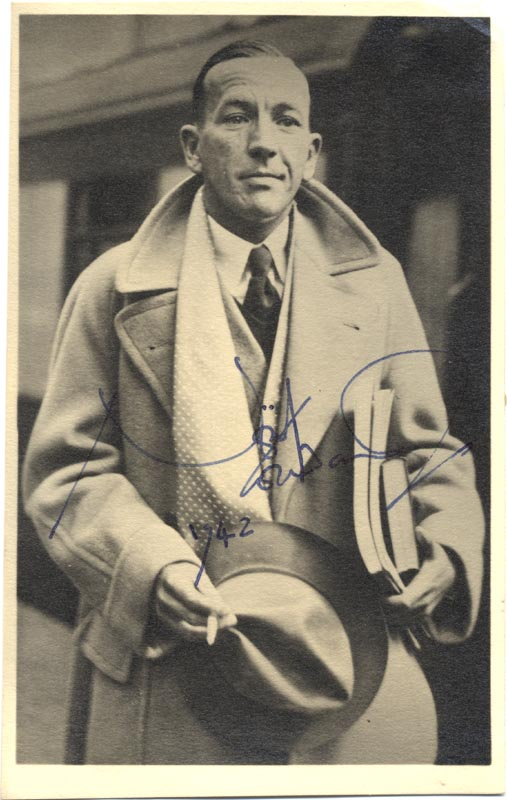 Image 1 for Sir Noel Coward - Autographed Signed Photograph 1942 - HFSID 171974