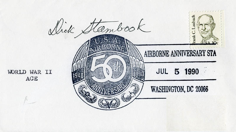 Image 1 for Lt. Commander Dick (Richard E.) Stambook - Commemorative Envelope Signed - HFSID 171988