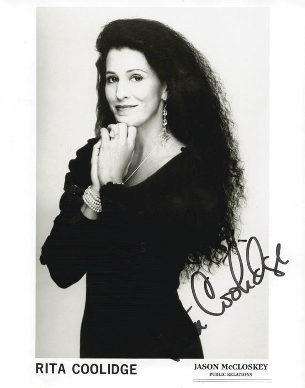 Image 1 for Rita Coolidge - Autographed Signed Photograph - HFSID 172006