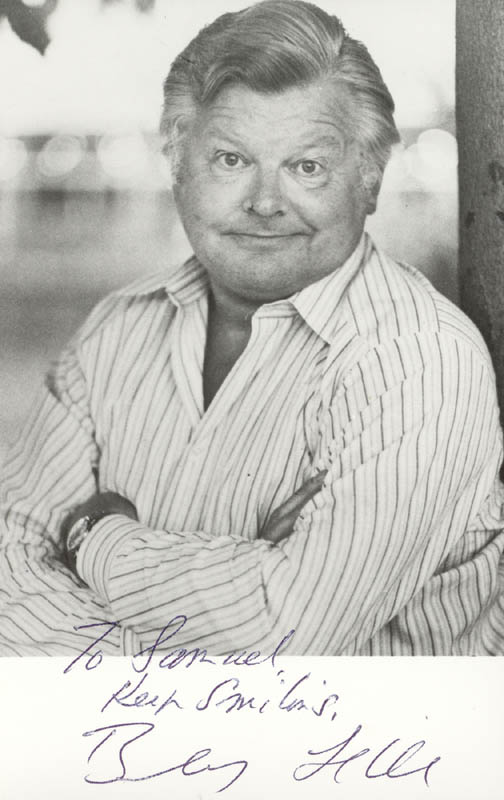 Image 1 for Benny Hill - Autographed Inscribed Photograph - HFSID 172008