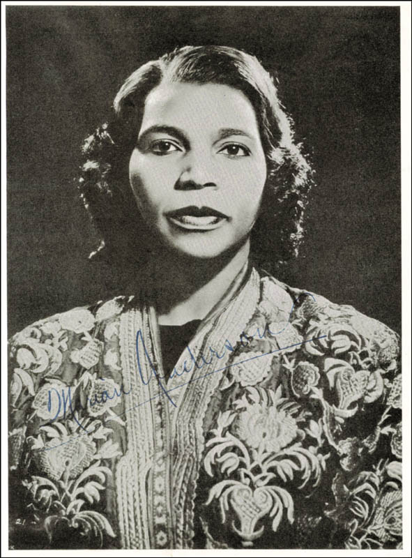 Image 1 for Marian Anderson - Magazine Photograph Signed - HFSID 172020
