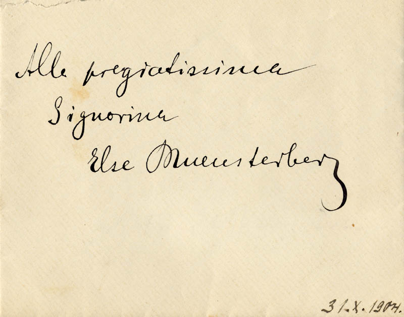 Image 1 for Eleonora 'Duse The God' Duse - Autograph Envelope Unsigned Circa 1904 - HFSID 172036