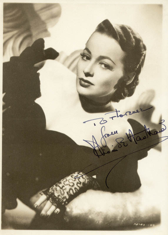 Image 1 for Olivia De Havilland - Autographed Inscribed Photograph - HFSID 172081