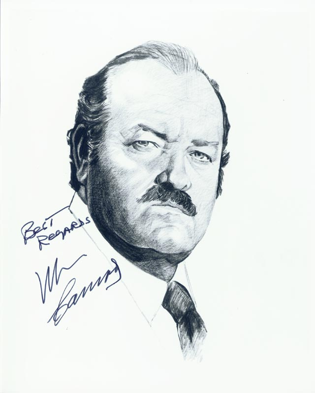 Image 1 for William Conrad - Printed Illustration Signed In Ink - HFSID 1721