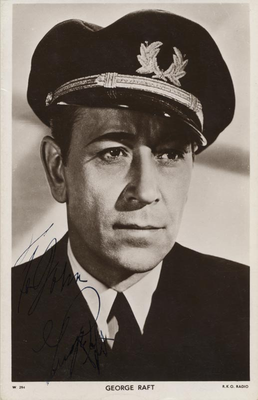 Image 1 for George Raft - Inscribed Picture Postcard Signed - HFSID 172114