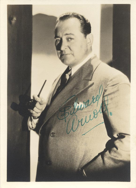 Image 1 for Edward Arnold - Autographed Signed Photograph - HFSID 172120