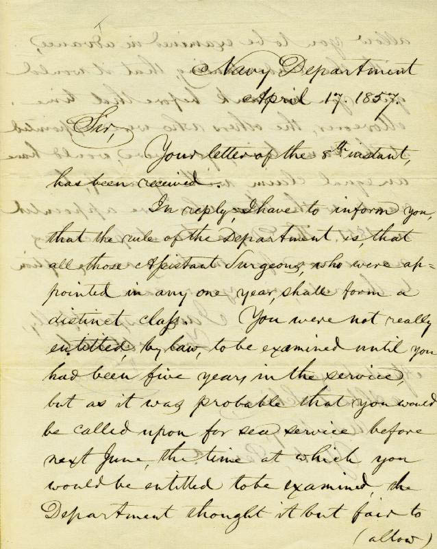 Image 1 for Isaac Toucey - Manuscript Letter Signed 04/17/1857 - HFSID 17215