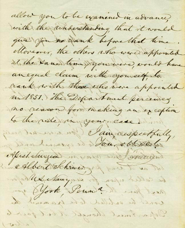 Image 3 for Isaac Toucey - Manuscript Letter Signed 04/17/1857 - HFSID 17215