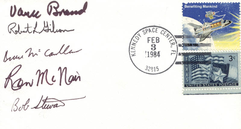 Image 1 for Space Shuttle Challenger - Sts - 41b Crew - Commemorative Envelope Signed with co-signers - HFSID 172161