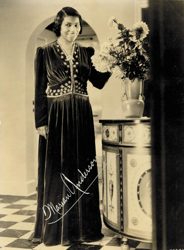 Image 1 for Marian Anderson - Autographed Signed Photograph - HFSID 172180