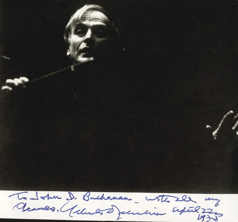 Image 1 for Yehudi Menuhin - Autographed Inscribed Photograph 04/22/1975 - HFSID 172222