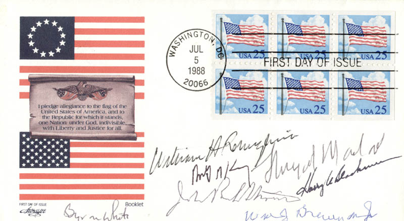 Image 1 for The William H. Rehnquist Court - First Day Cover Signed with co-signers - HFSID 172295