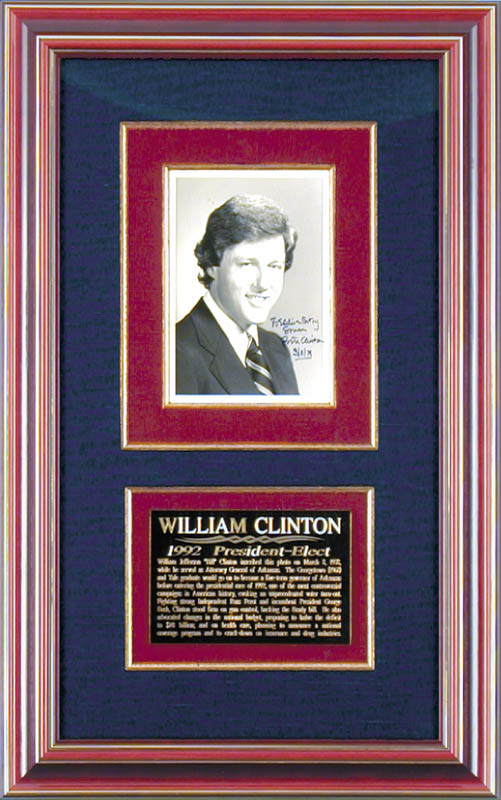 Image 1 for President William J. 'Bill' Clinton - Autographed Inscribed Photograph 03/08/1978 - HFSID 172355