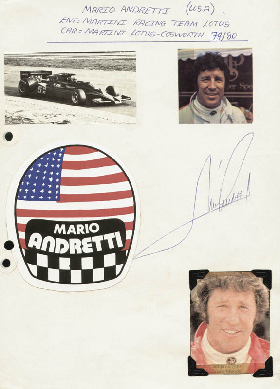 Image 1 for Mario Andretti - Autograph - HFSID 172527
