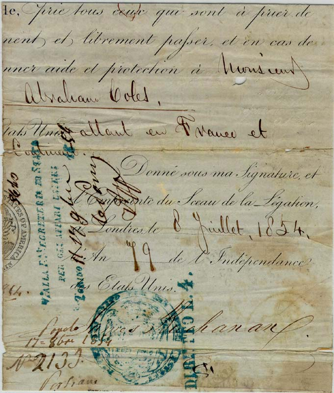 Image 1 for President James Buchanan - Printed Document Fragment Signed In Ink 07/08/1854 - HFSID 17255