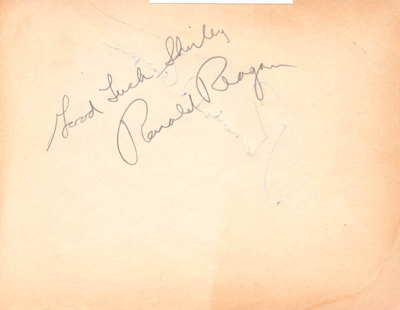 Image 1 for President Ronald Reagan - Autograph Note Double Signed - HFSID 172756