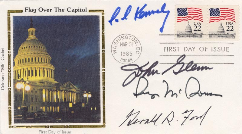 Image 1 for President Gerald R. Ford - First Day Cover Signed co-signed by: John Glenn, Edward 'Ted' Kennedy, George Mcgovern - HFSID 172940