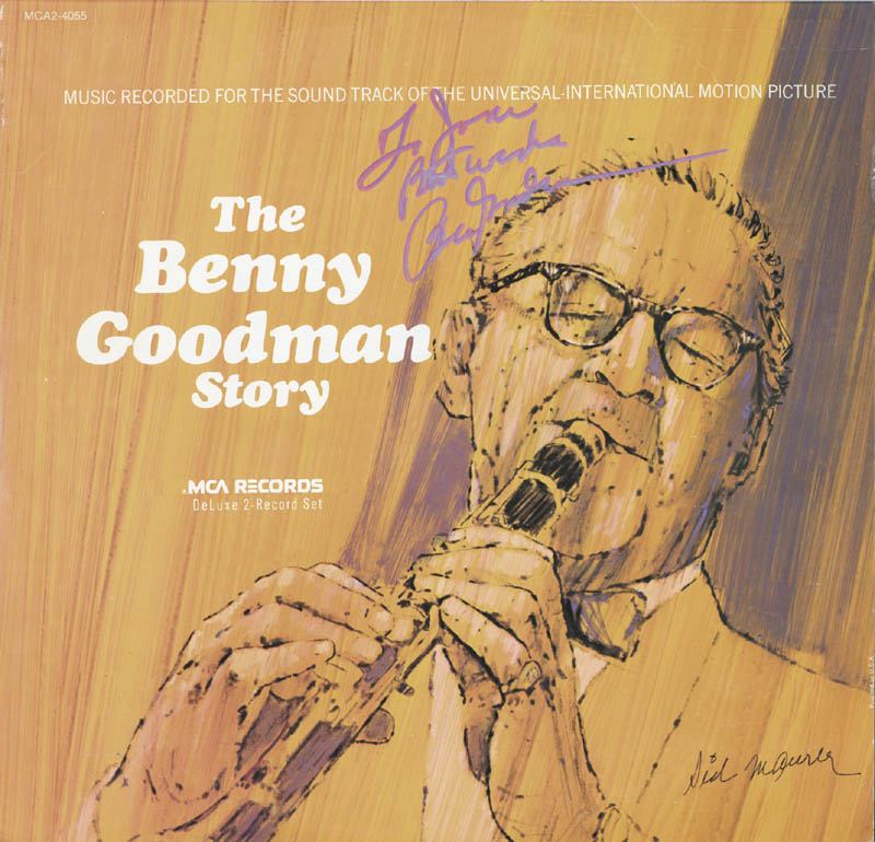 Image 1 for Benny Goodman - Record Album Cover Signed - HFSID 173062