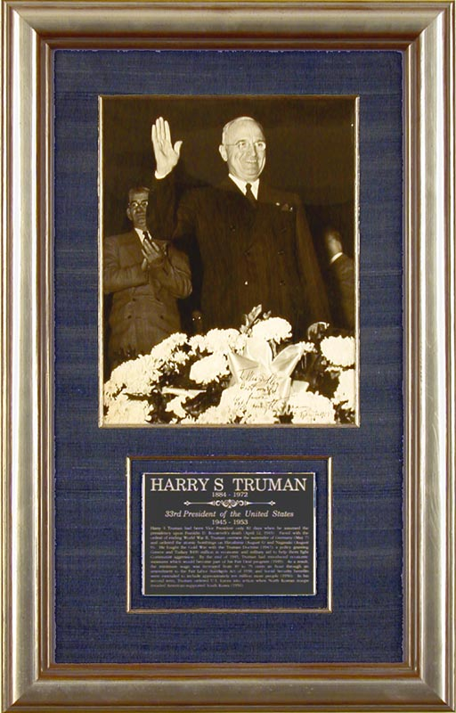Image 1 for President Harry S Truman - Autographed Inscribed Photograph 10/03/1958 - HFSID 173373
