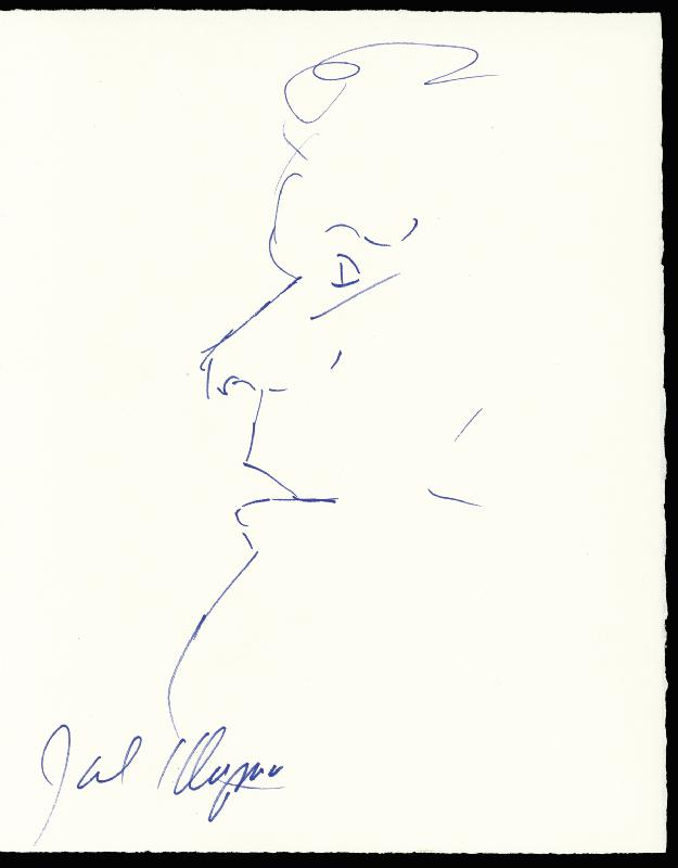 Image 1 for Jack Klugman - Self-caricature Signed - HFSID 173381