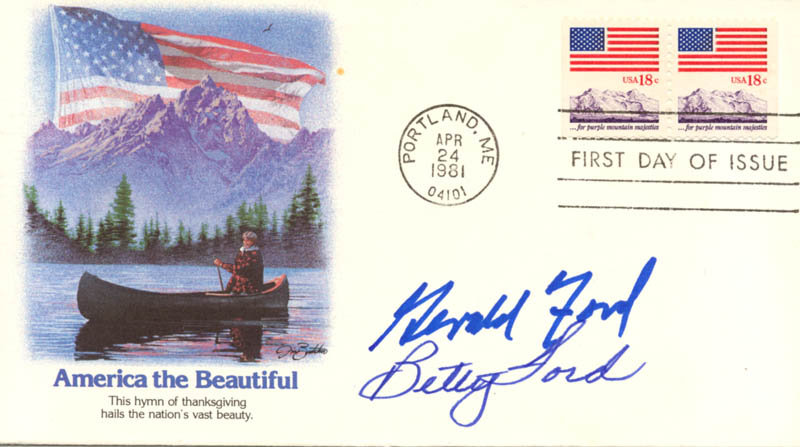 Image 1 for President Gerald R. Ford - First Day Cover Signed co-signed by: First Lady Betty Ford - HFSID 173392