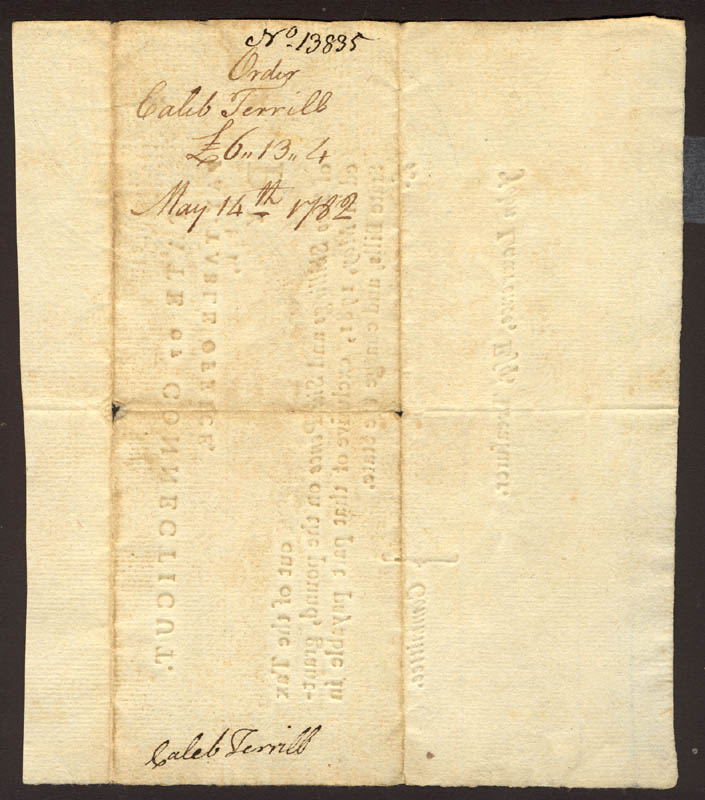 Image 3 for Oliver Wolcott Jr. - Promissory Note Signed 05/14/1782 co-signed by: Eleazer Wales, Hezekiah Rogers - HFSID 174238