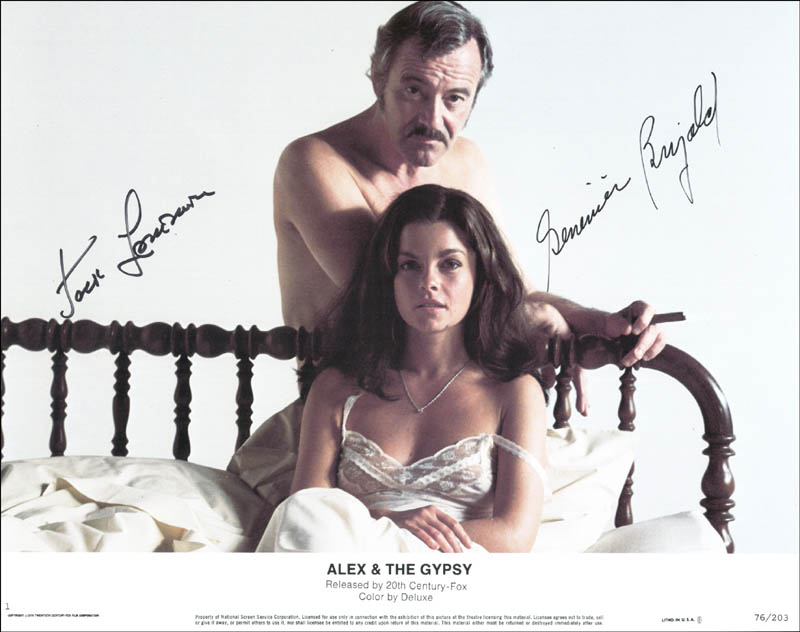 Image 1 for Alex And The Gypsy Movie Cast - Lobby Card Signed co-signed by: Genevieve Bujold, Jack Lemmon - HFSID 174340