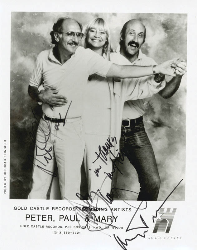 Image 1 for Peter, Paul & Mary - Autographed Signed Photograph with co-signers - HFSID 174381
