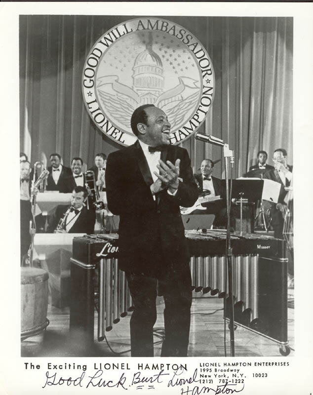 Image 1 for Lionel Hampton - Autographed Inscribed Photograph - HFSID 174382