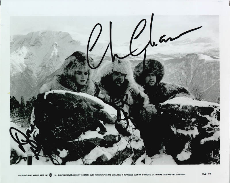 Image 1 for Spies Like Us Movie Cast - Autographed Signed Photograph co-signed by: Chevy Chase, Dan Aykroyd, Donna Dixon - HFSID 174385