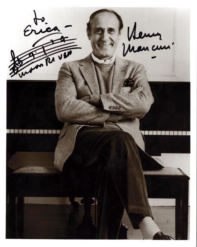Image 1 for Henry Mancini - Inscribed Musical Quotation On Photo Signed - HFSID 174408