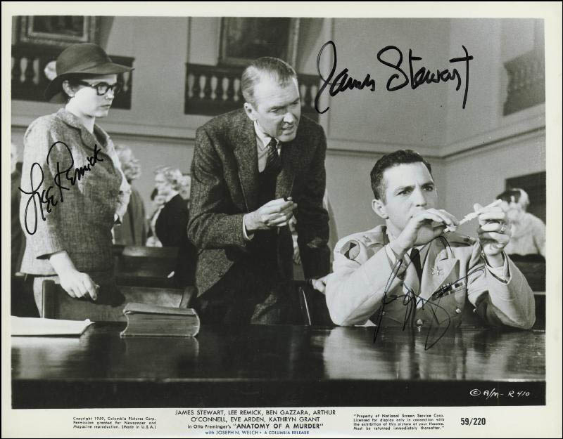Anatomy Of A Murder Movie Cast - Photograph Signed with Cosigners ...