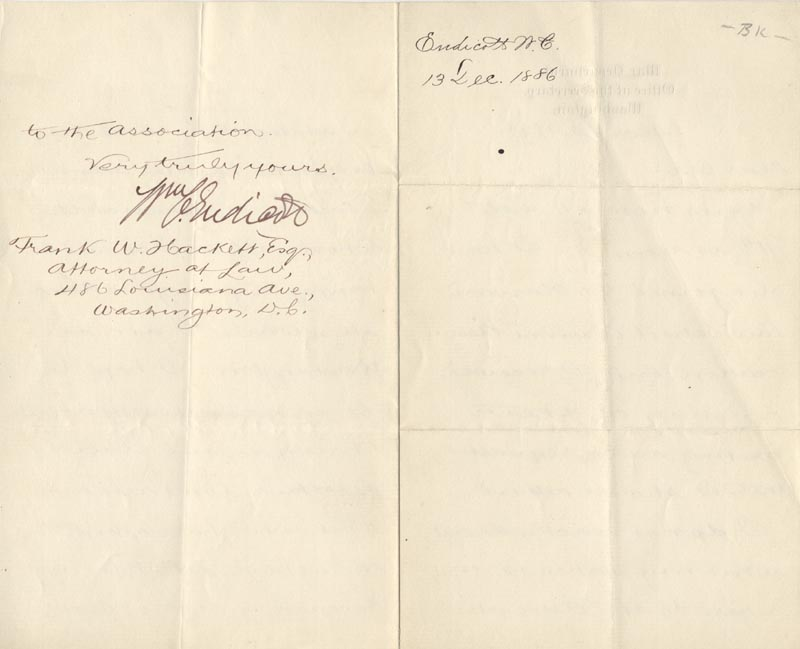 Image 1 for William C. Endicott - Manuscript Letter Signed 12/13/1886 - HFSID 17451
