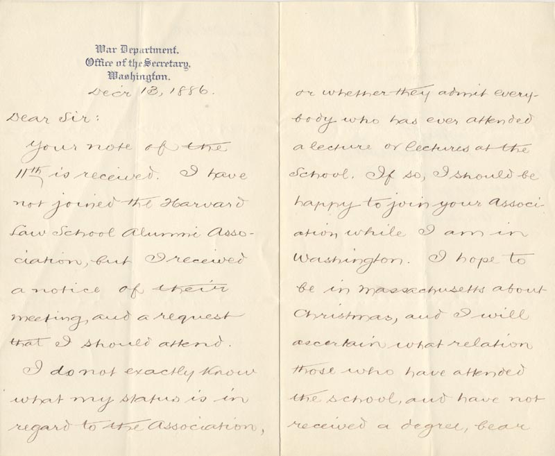 Image 3 for William C. Endicott - Manuscript Letter Signed 12/13/1886 - HFSID 17451