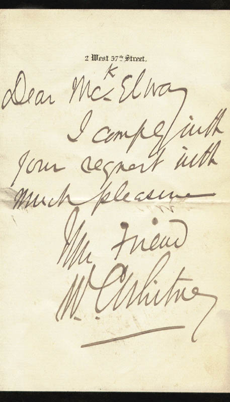 Image 1 for William Collins Whitney - Autograph Letter Signed - HFSID 17459