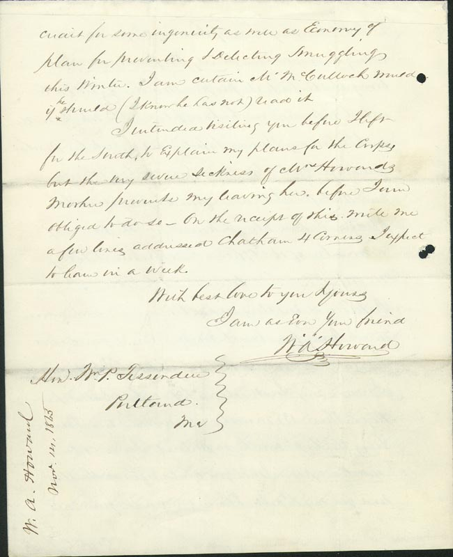 Image 1 for Colonel William A. Howard - Autograph Letter Signed 11/14/1865 - HFSID 174699