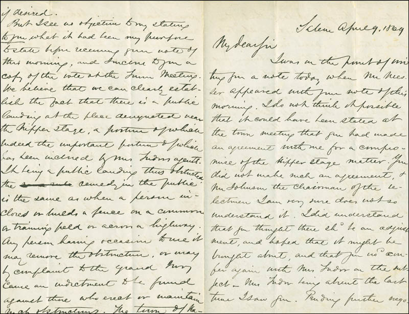 Image 3 for William C. Endicott - Autograph Letter Signed 04/09/1869 - HFSID 17470