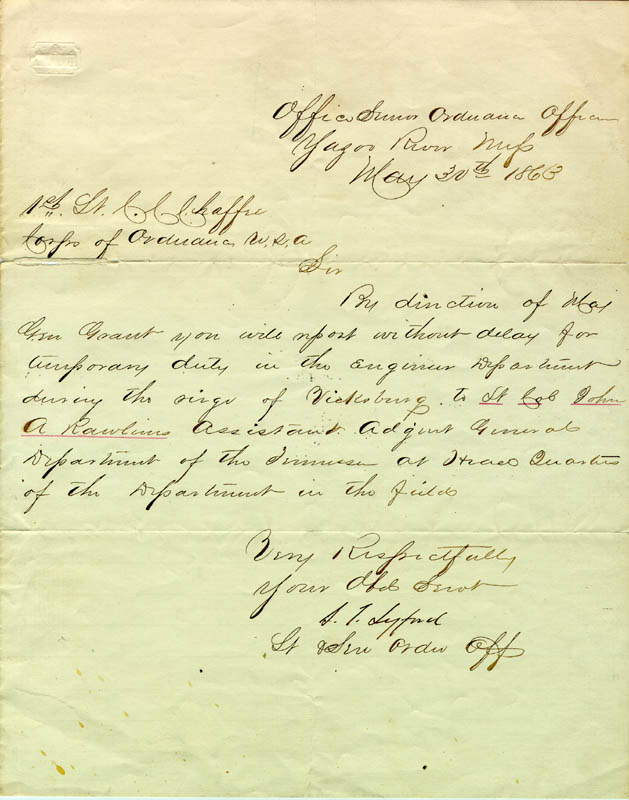 Image 1 for S. C. Lyford - Manuscript Document Signed 05/30/1863 - HFSID 174759