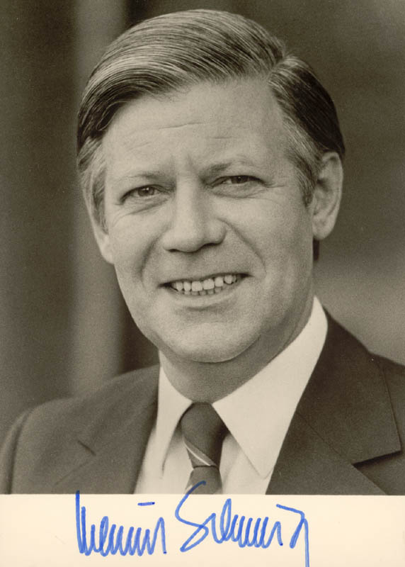 Image 1 for Chancellor Helmut Schmidt (West Germany) - Autographed Signed Photograph - HFSID 174916
