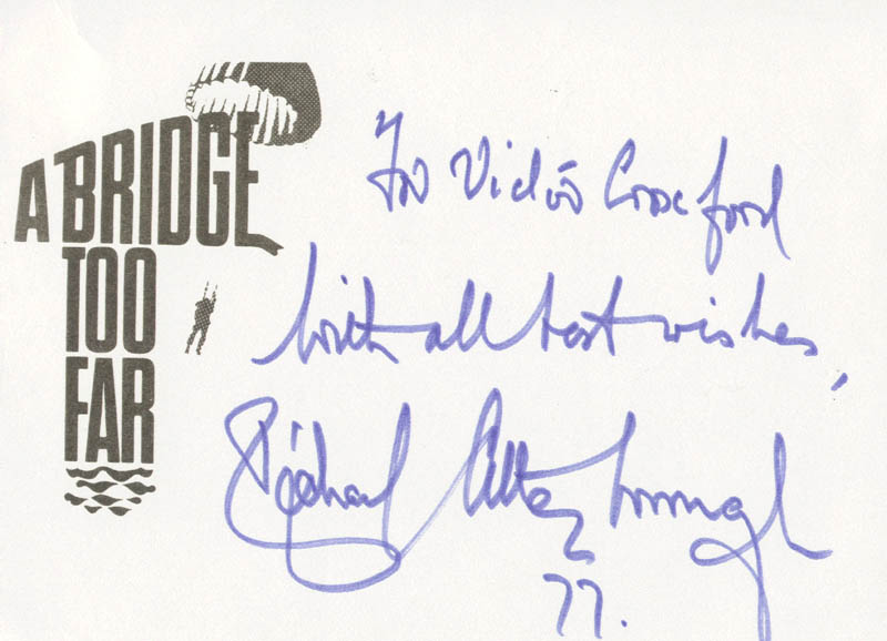 Image 1 for Sir Richard Attenborough - Autograph Note Signed 1977 - HFSID 175073