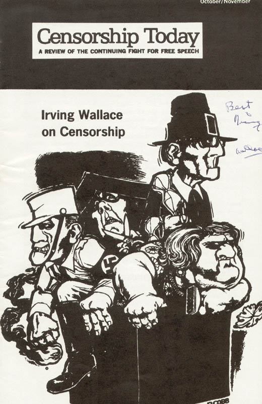 Image 1 for Irving Wallace - Pamphlet Signed - HFSID 175209