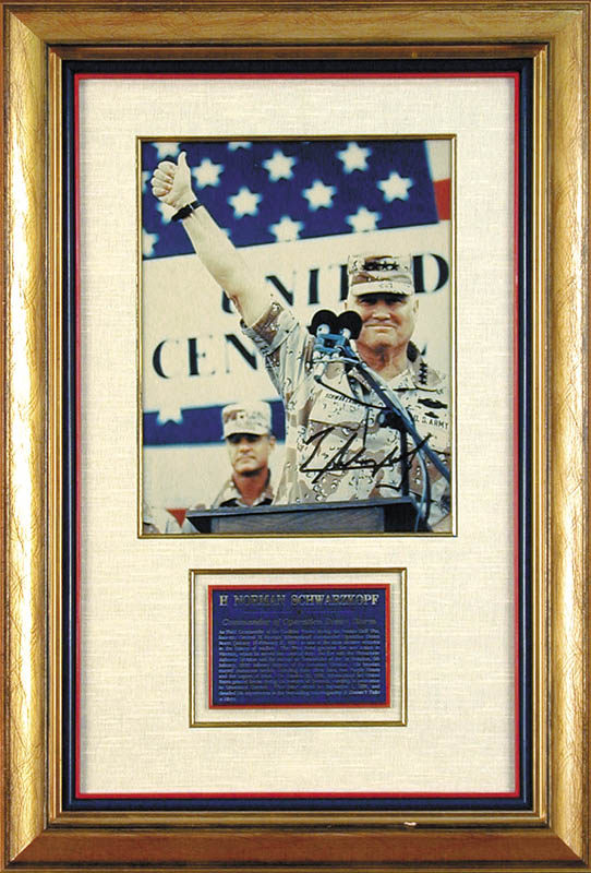 Image 1 for General H. Norman Schwarzkopf - Autographed Signed Photograph - HFSID 175343