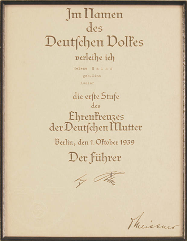 Image 3 for Adolf 'Der Fuhrer' Hitler - Document Mechanically Signed 10/01/1939 With Otto Meissner - HFSID 175510