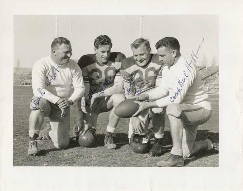 Image 1 for The University Of New Mexico Football - Autographed Signed Photograph co-signed by: Berl Huffman, Virgil 'Bottles' Boteler, Rudy Krall - HFSID 175558