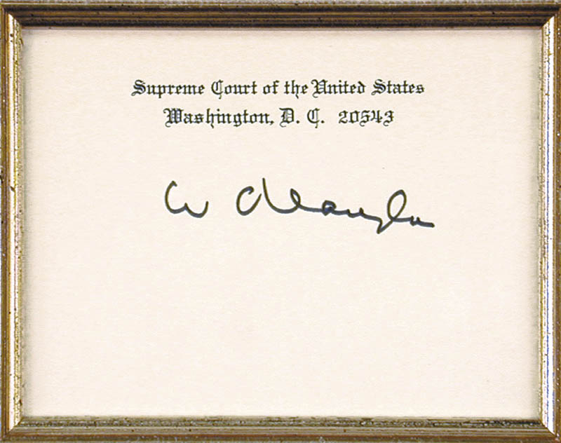 Image 3 for Associate Justice William O. Douglas - Supreme Court Card Signed - HFSID 175716