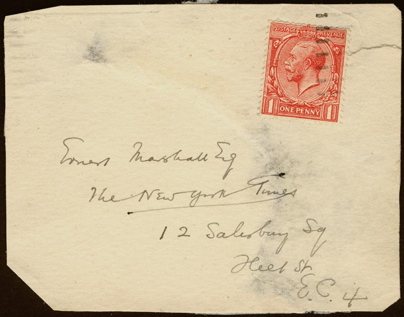 Image 1 for H. G. Wells - Autograph Envelope Unsigned - HFSID 175733
