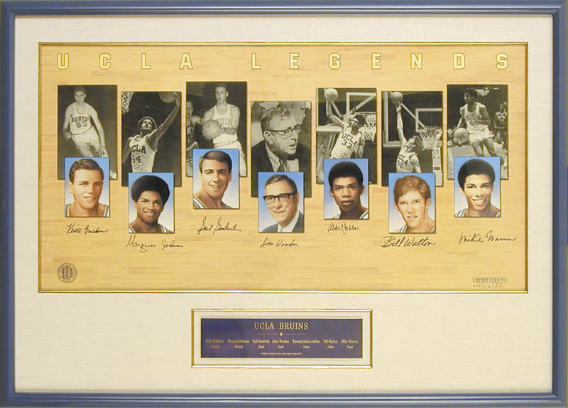 Image 1 for John Wooden - Printed Art Signed In Ink with co-signers - HFSID 175734