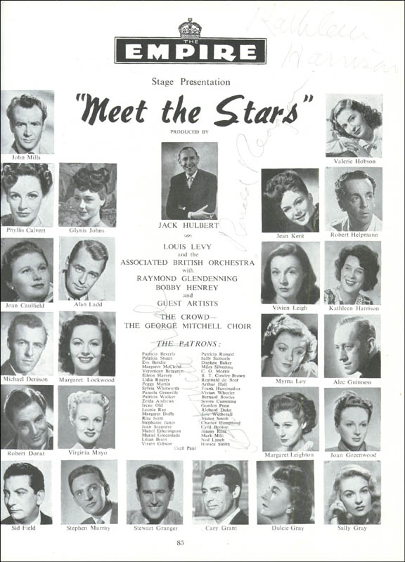 Image 3 for President Ronald Reagan - Program Signed Circa 1948 co-signed by: Patricia Neal, Kathleen Harrison, Edana Romney, Alan Ladd, Billy De Wolfe - HFSID 175843