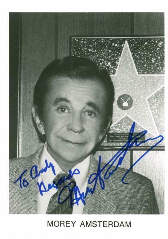 Image 1 for Morey Amsterdam - Autographed Inscribed Photograph - HFSID 175868